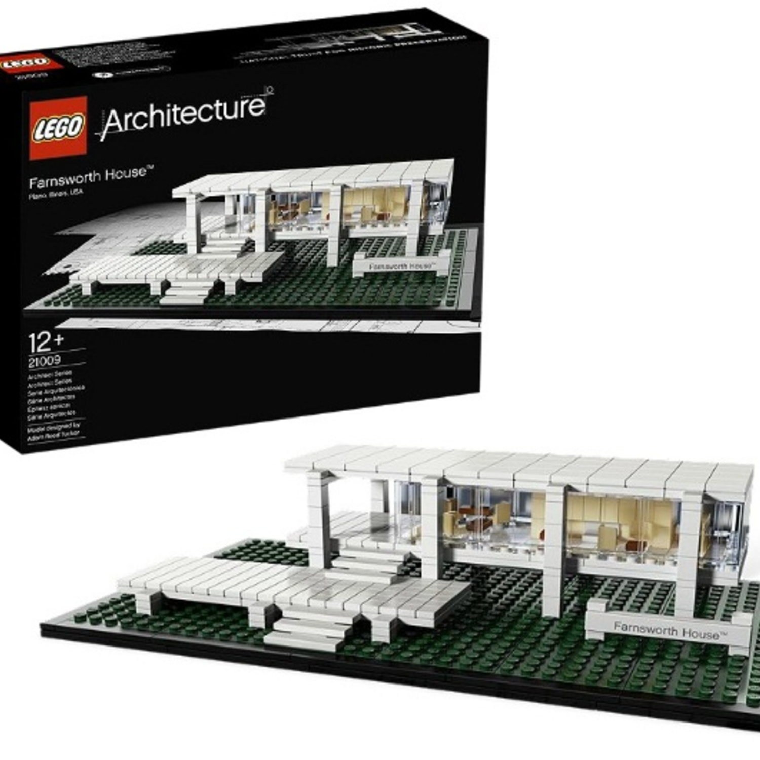 lego architecture farnsworth house milledoni spot on gifts. Black Bedroom Furniture Sets. Home Design Ideas