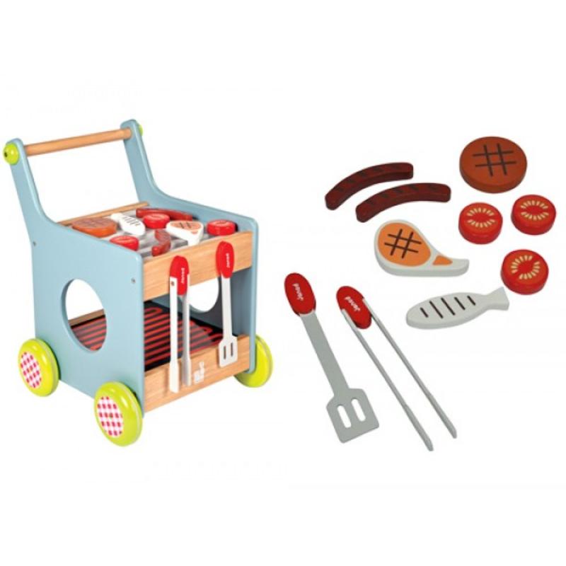 Barbecue trolley van janod milledoni spot on gifts for Cadeautips voor kinderen