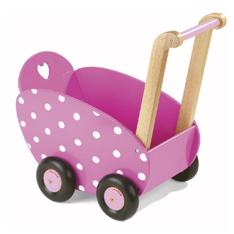 poppenwagen framboisine van janod | milledoni - spot on gifts