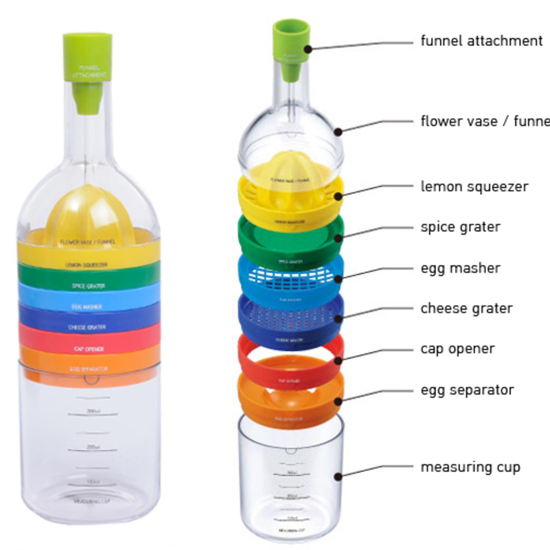 Keuken Cadeau Man : keuken gereedschappen in een fles Milledoni – Spot on gifts