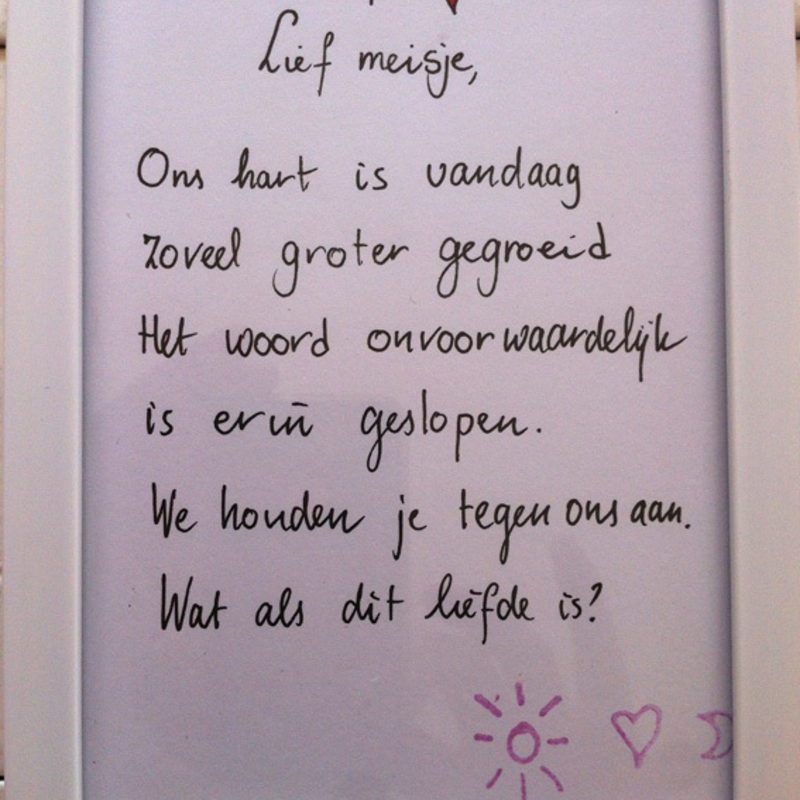 Cadeau Huwelijk Zus : Persoonlijk gedicht op maat milledoni spot on gifts