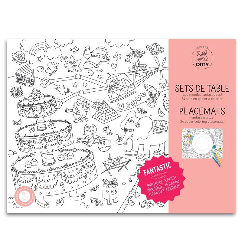 Placemats Als Kleurplaat Milledoni Spot On Gifts