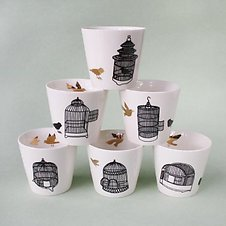Pols Potten Freedom birds cup set van 6 cadeau.jpg